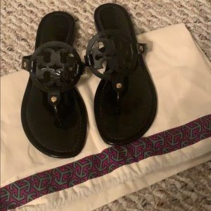 Black Patent Leather Tory Burch Sandals